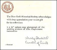 New York Historical Society Receipt